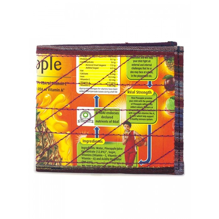 Green the Map Satish Wallet-TetraPak, Fabric, Magnetic strap