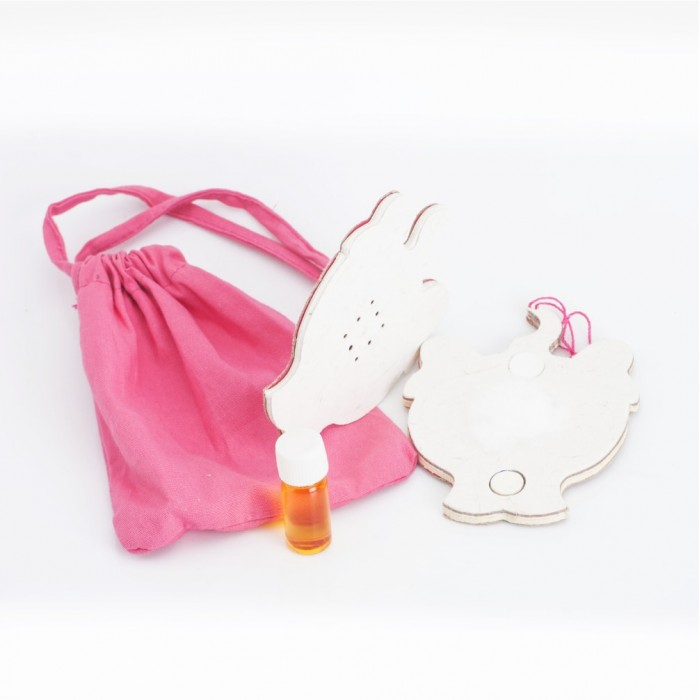 Haathi Chaap Poom Freshener-Pink Pouch- Recycled Elephant Dung Paper