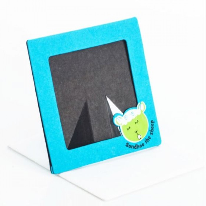 Haathi Chaap Animal Farm Blue Coloured Photo Frame Cum Card / 5.6 inches - Elephant Poo Paper & Colored Handmade Cotton Paper.