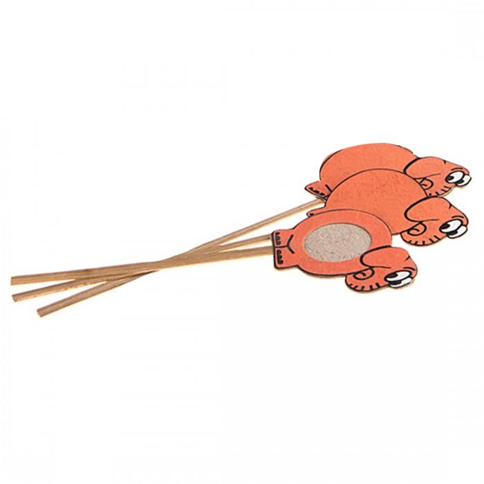 Haathi Chaap Bookmark (Set of 3) -Elephant-Orange- Recycled Elephant Dung Paper
