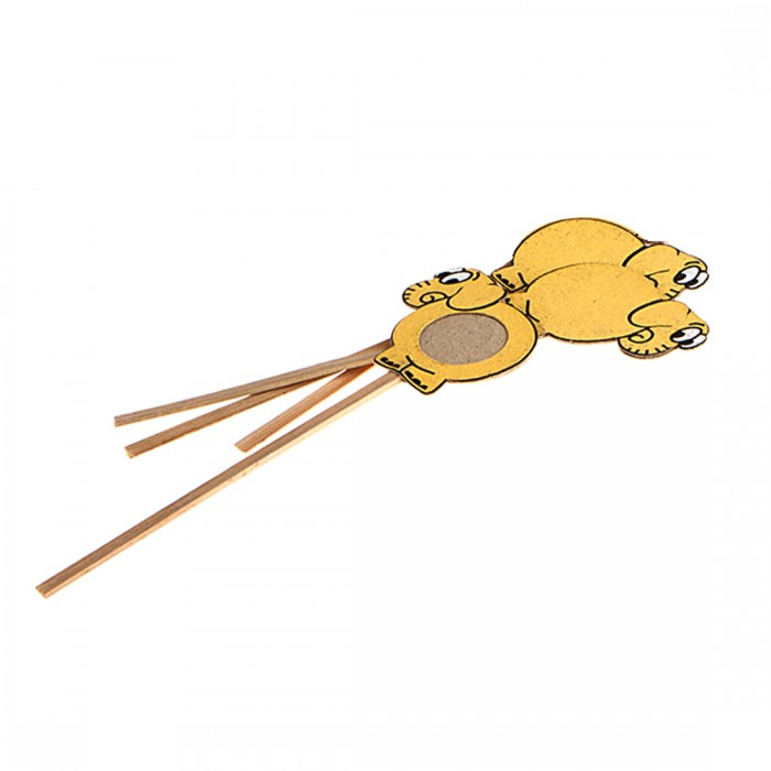 Haathi Chaap Bookmark (Set of 3) -Elephant-Yellow- Recycled Elephant Dung Paper