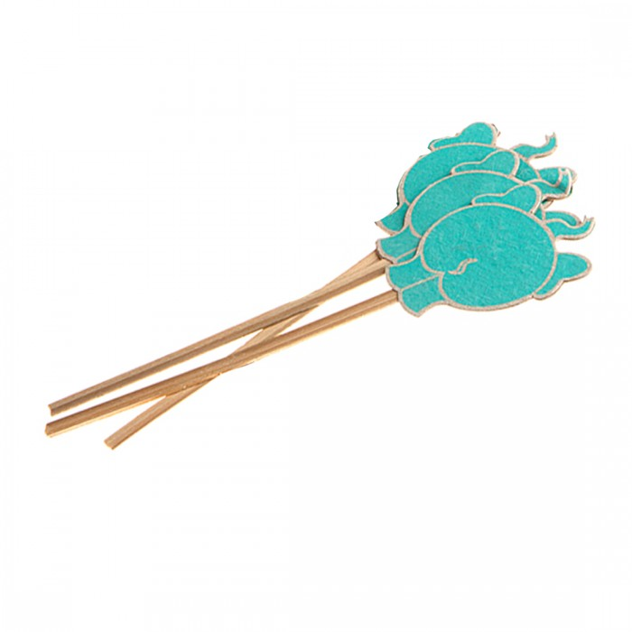 Haathi Chaap Bookmark (Set of 3) -Elephant Bum-Blue- Recycled Elephant Dung Paper