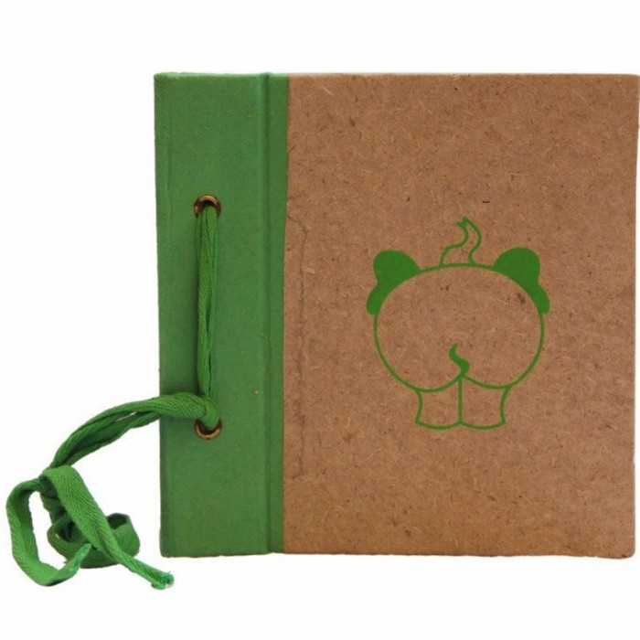 Haathi Chaap Green Memory Book Small / Scrapbook cum Album - Elephant Poo Paper
