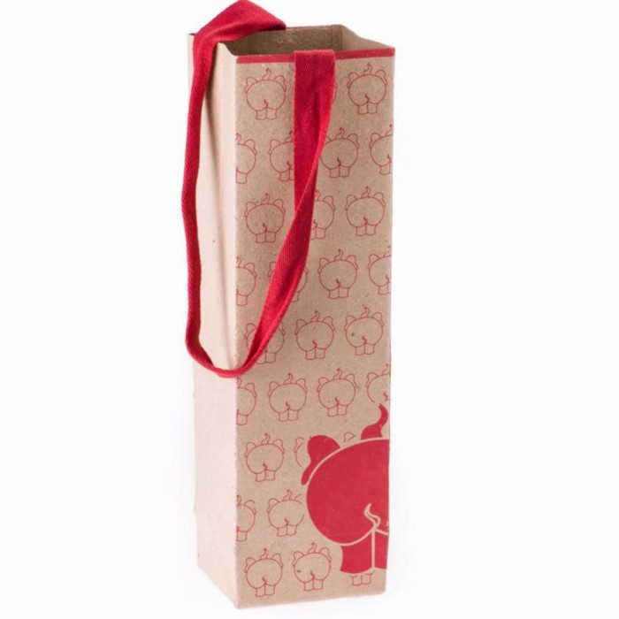 Haathi Chaap Ele Poo Bottle Bags-Recycled Elephant Dung Paper