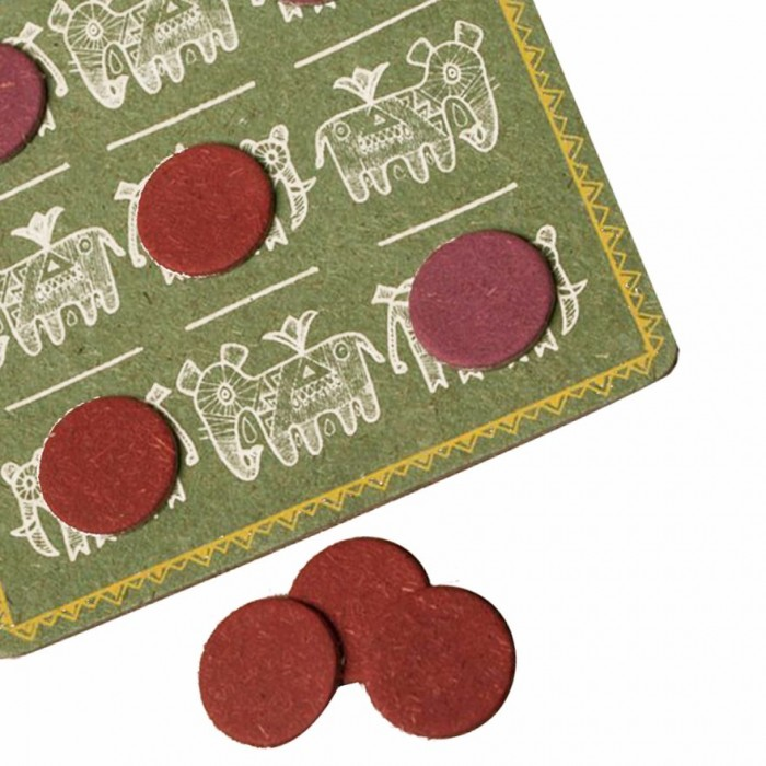 Haathi Chaap Rota Tic Tac Toe Game- Made From Recycled Elephant Dung Paper