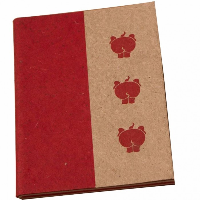 Haathi Chaap Soft Cover Ele Poo Notebook / 44 pages - Elephant Poo Paper and Handmade Cotton Paper