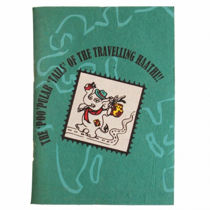 Haathi Chaap Green Coloured Travel Haathi Notebook Diary - Recycled Elephent Dung