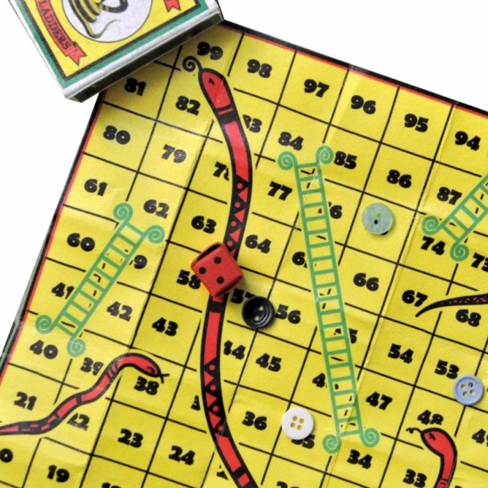 Haathi Chaap Matchbox Snakes And Ladders Board Game - Made from Up-cycled Elephant Dung Paper