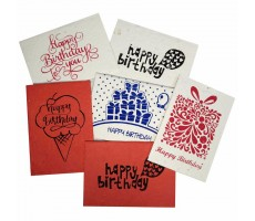 Jalebi - Plantable Birthday Cards - Set of 10 - Handmade Paper With Live Organic Seeds