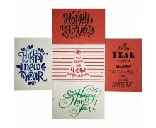 Jalebi - Plantable New Year Cards - Set of 10 - Handmade Paper With Live Organic Seeds