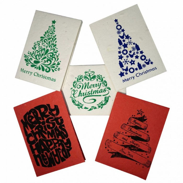 jalebi plantable christmas and new year cards set of 10 handmade paper with