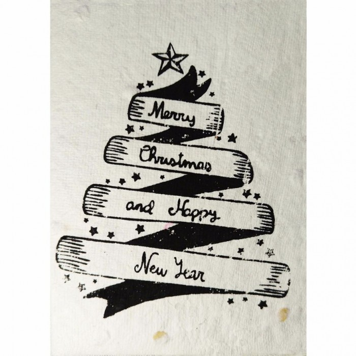 Jalebi - Plantable Christmas and New Year Cards - Set of 10 - Handmade Paper With Live Organic Seeds