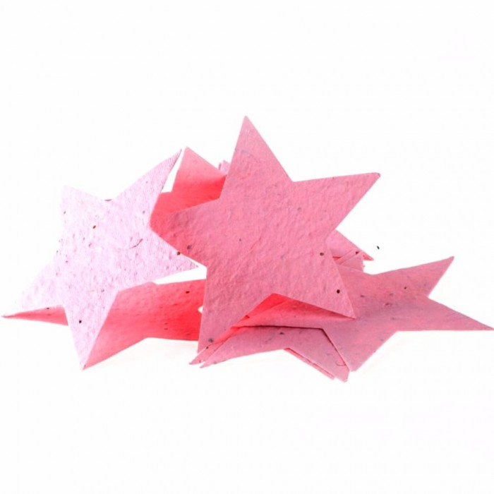 Jalebi Grow Me Plantable Shape Cards Rec Pack Of 10 - Handmade Paper With Organic Wild Flower Seeds