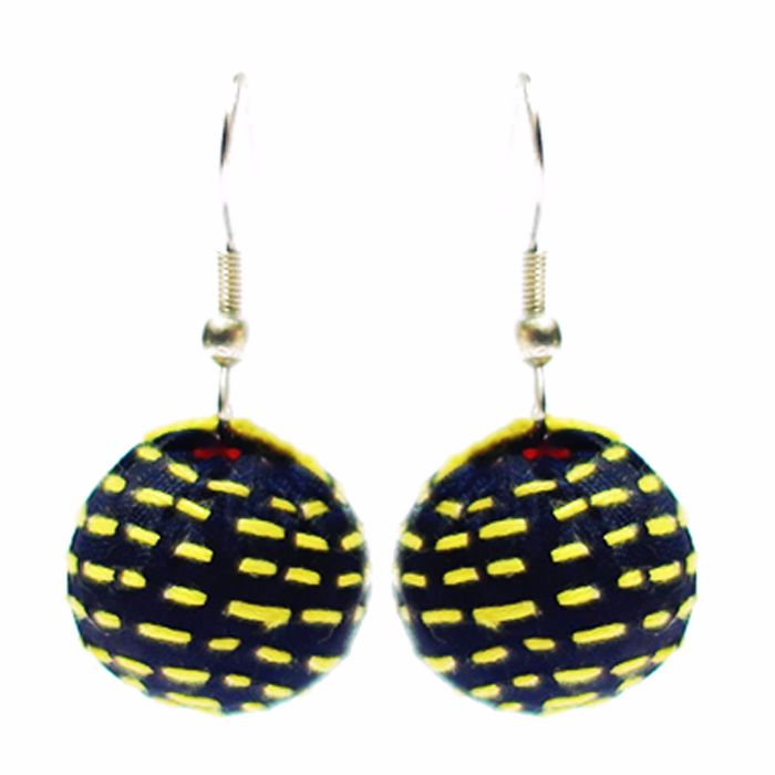 Jugaad One Boria Earing-Upcycled Fabric