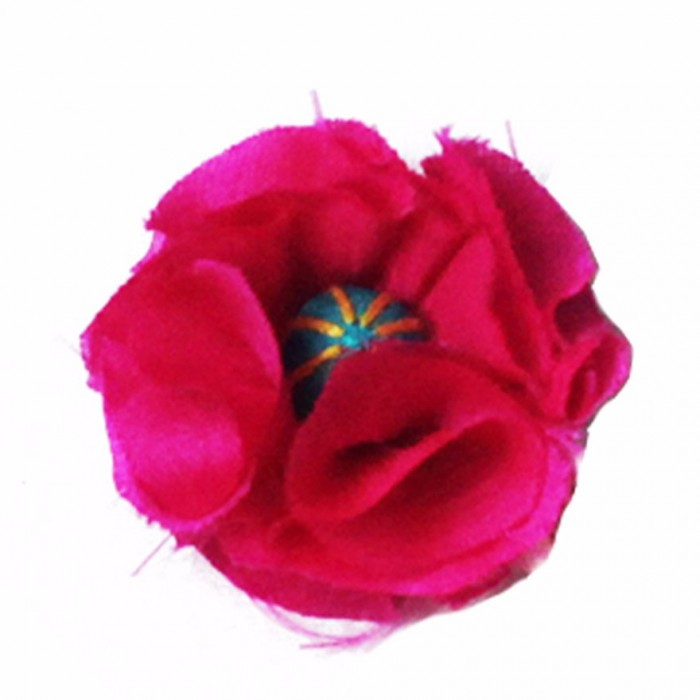 Jugaad Flower Ring-Upcycled Fabric