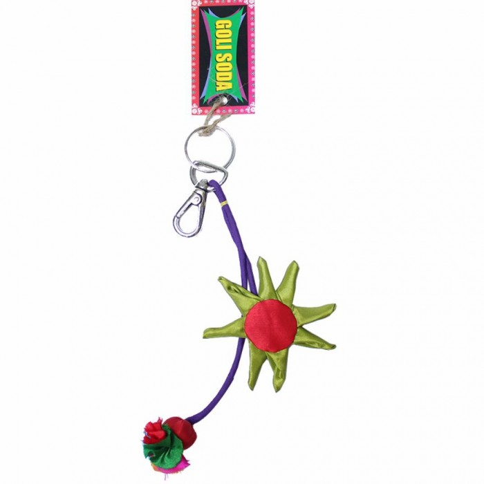 Jugaad Sunflower Key Chain-Upcycled Fabric