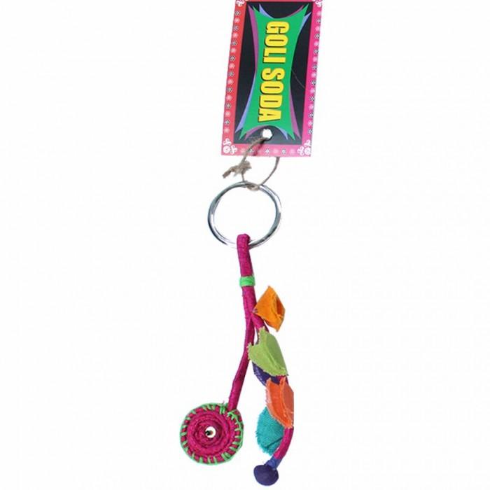 Jugaad Chakri Keychain-Upcycled Fabric