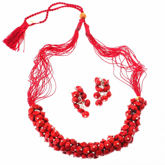Jungle Jewels Radiant Red-Seeds And Beads