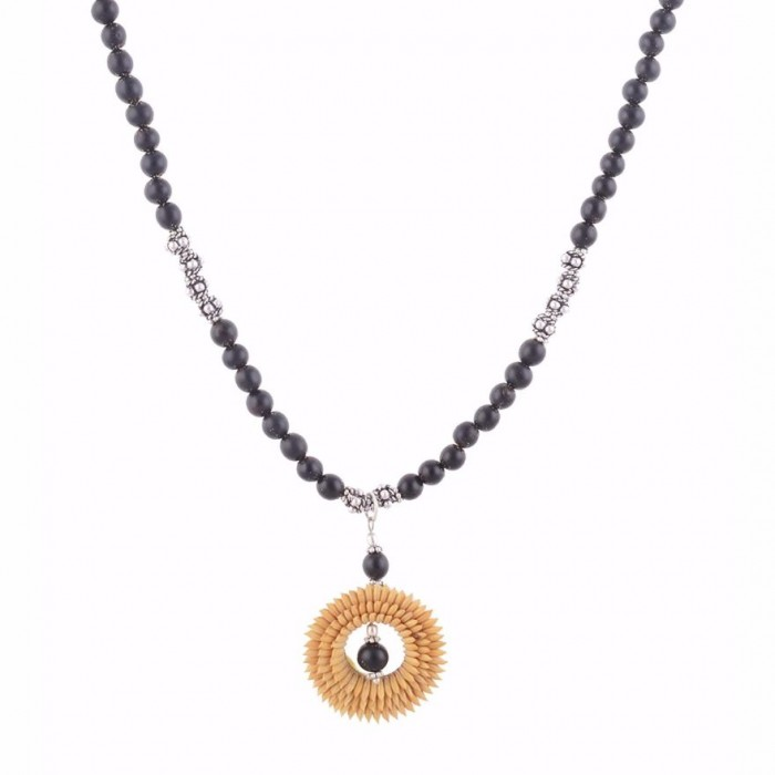 Jungle Jewels - Enrich ethnically - Necklace with earrings