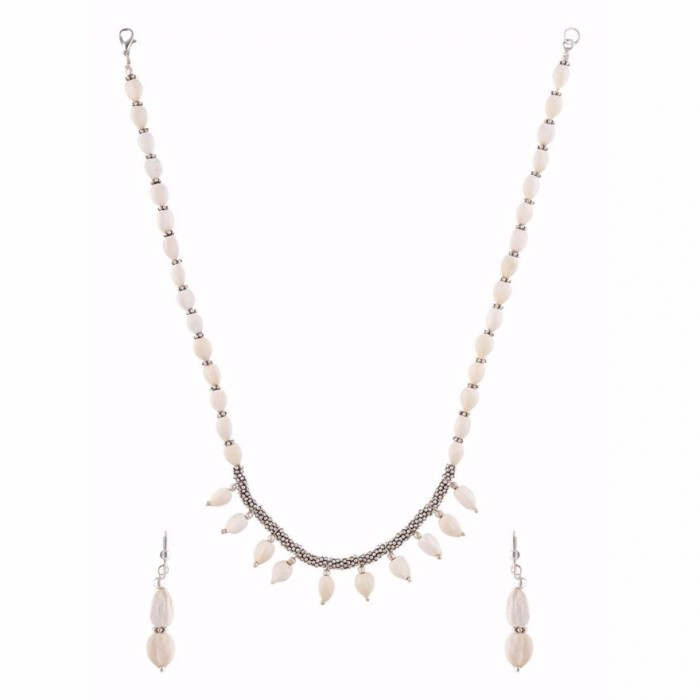 Jungle Jewels - Dew drops - Necklace with earrings
