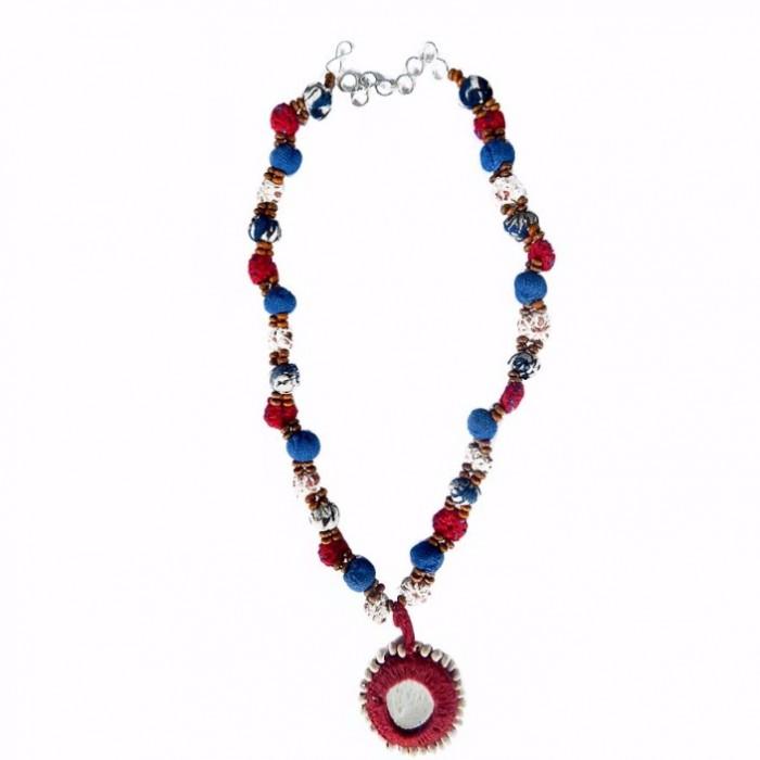 Porgai Dollar necklace-Fabric