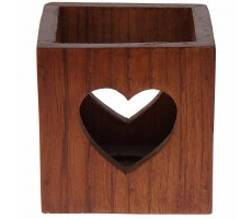 Punar Heart Multipurpose box-Wooden finish