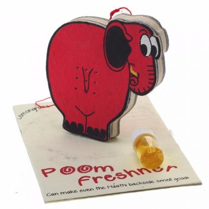 Haathi Chaap Poom Freshner / Magnetic Dispenser - Recycled Elephant Dung Paper