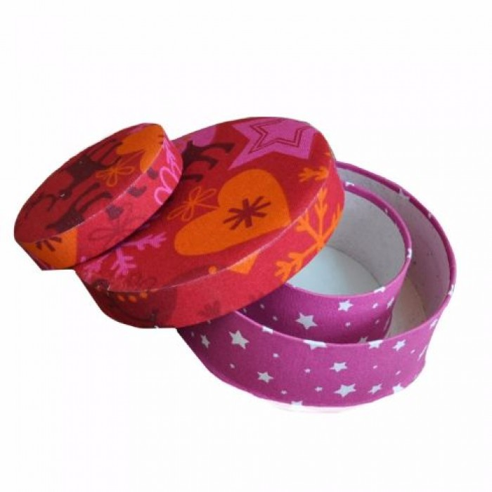 Enthu Cutlets Fabric Boxes set of 2 - Upcycled Cloth