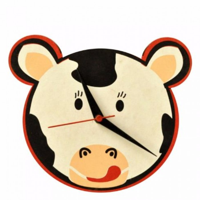 Haathi Chaap Animal Shaped Black Colour Wall Clock - Elephant Poo Paper