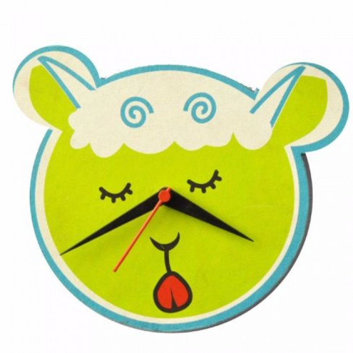 Haathi Chaap Animal Shaped Green Colour Wall Clock - Elephant Poo Paper