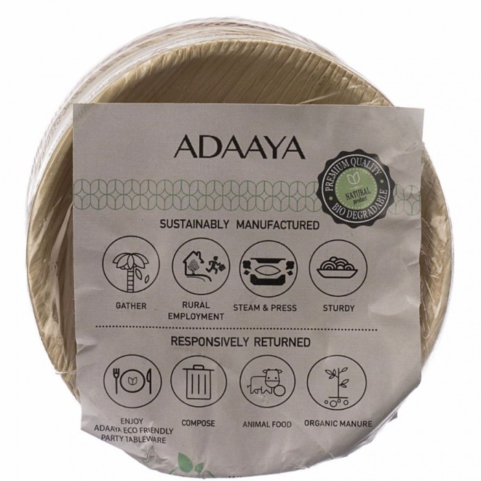 Adaaya Farms Palm Small Round Bowl 3 inch - Eco Friendly, Bio degradable & Compostable - Suitable for Parties and Events