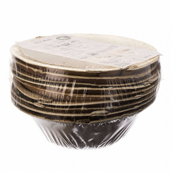 Adaaya Farms Palm Round Bowl 5 inch Set of 10 - Eco Friendly, Bio degradable & Compostable - Suitable for Parties and Events