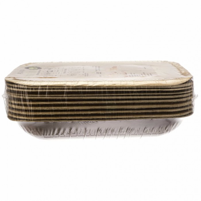 Adaaya Farms Palm Rectangle Plate 6.8 inch - Eco Friendly, Bio degradable & Compostable - Suitable for Parties and Events