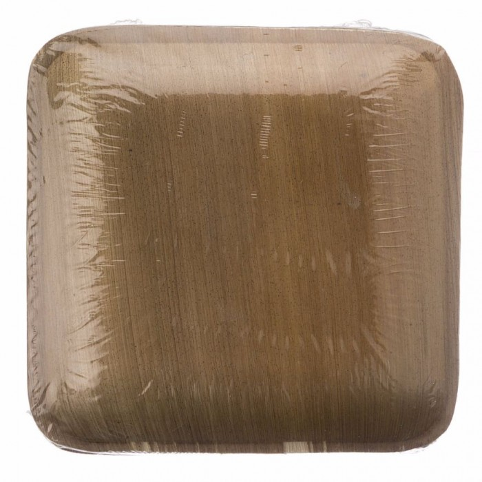 Adaaya Farms Palm Square Quarter Plate 6 Inch - Eco Friendly, Bio degradable & Compostable - Suitable for Parties and Events