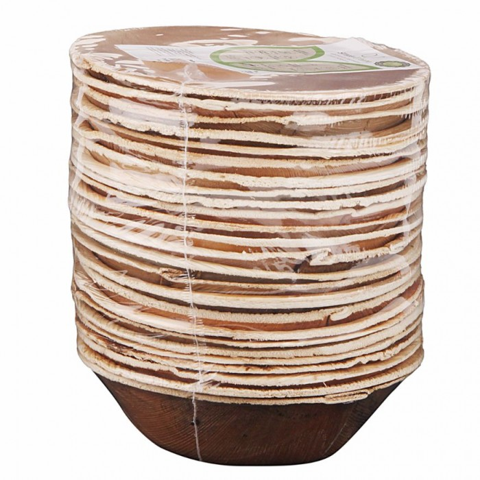 Adaaya Farms Natural Palm Bowls - Pack of 25 Bowls / Round / 5 Inches - Eco Friendly, Bio degradable & Compostable - Suitable for Parties and Events.