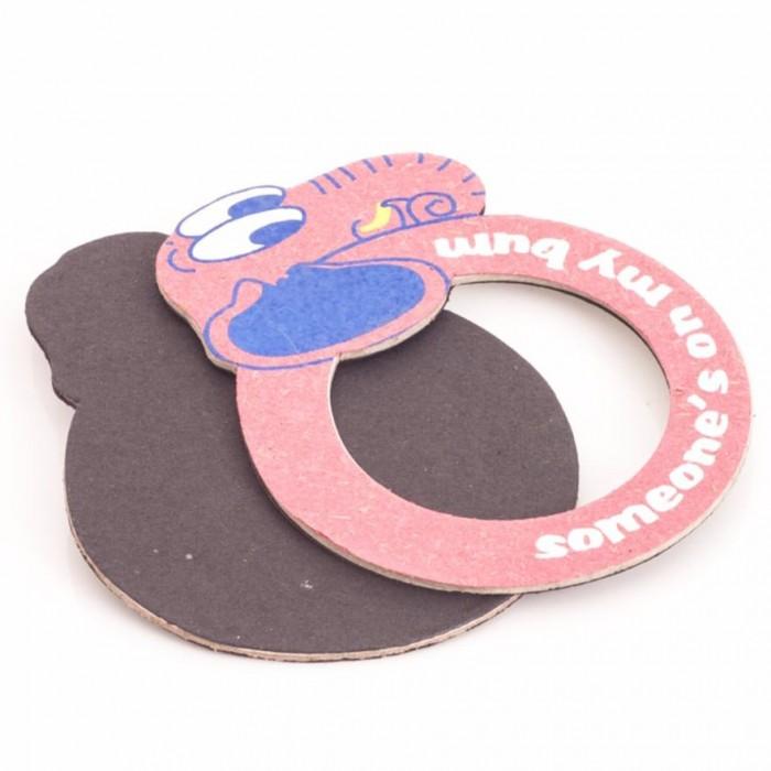Haathi Chaap Elephant Shape Pink Coloured Magnetic Photo Frame - Elephant Poo Paper & Handmade Cotton Paper