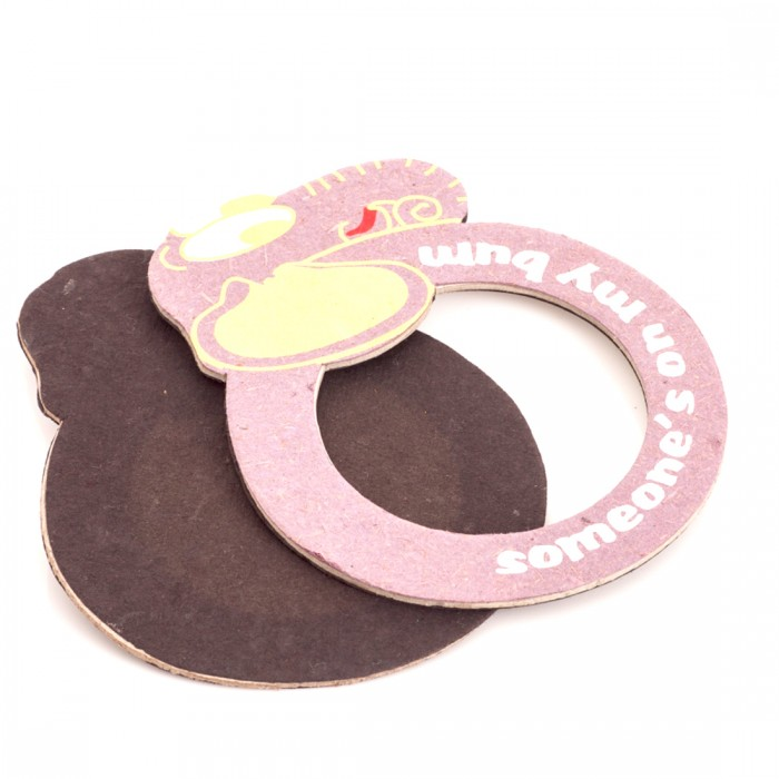Haathi Chaap Elephant Shape Purple Coloured Magnetic Photo Frame - Elephant Poo Paper & Handmade Cotton Paper