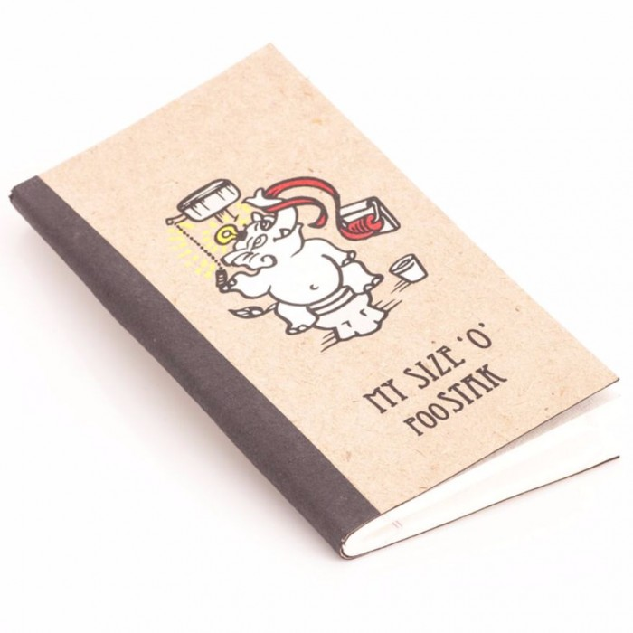 Haathi Chaap Slim Notebook/ 60 Pages - Ele Poo Paper with Board & Coloured Ele Cotton Paper