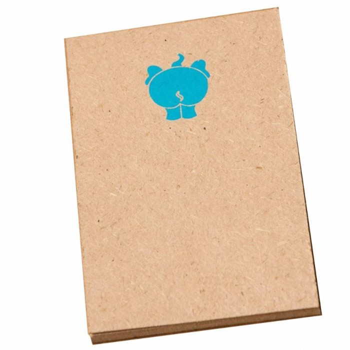 Haathi Chaap Elephant Printed Blue Notepad / 20 pages - Elephant Poo Paper