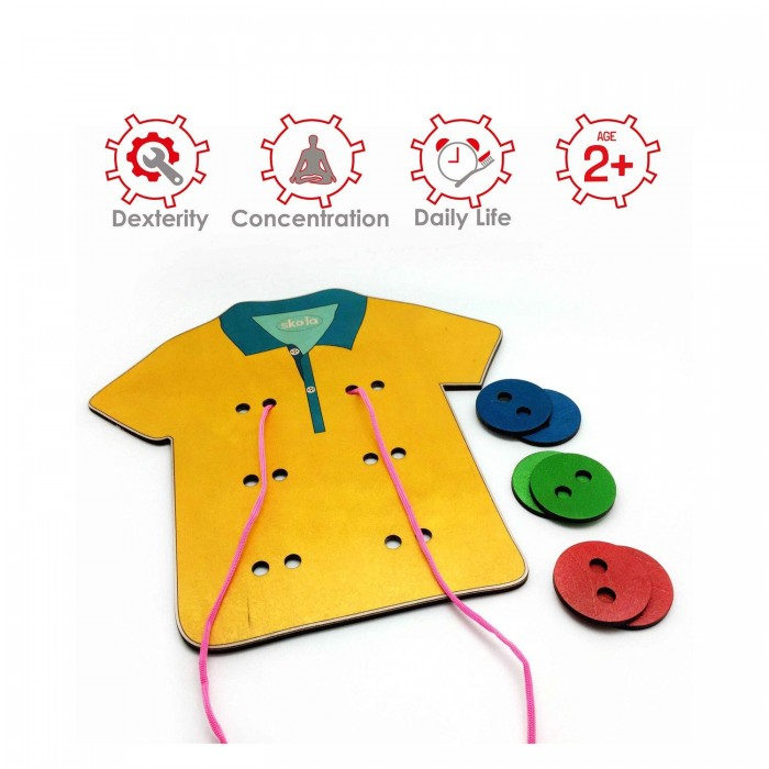 Skola Toys T Shirt Tailor - Sew the buttons on the shirt