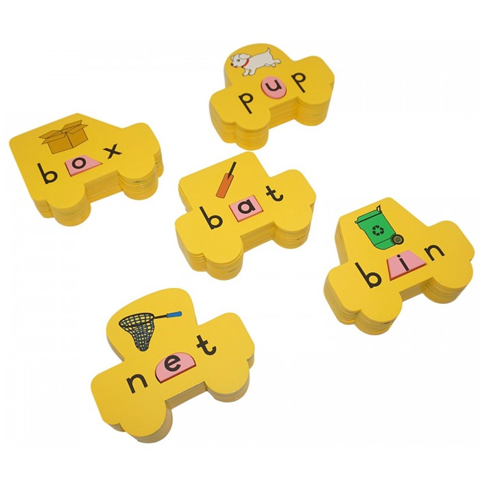 Skola Toys Vowel Cars - Stack the CVC Words