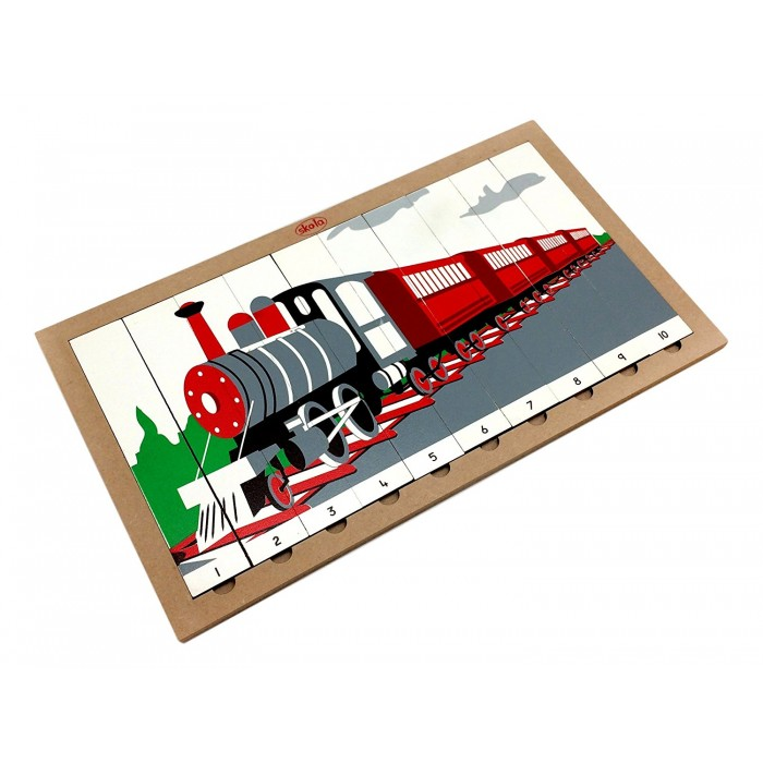 Skola Toys Sequencing Puzzle: Train - Number system from 1 to 10