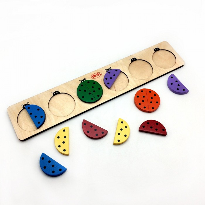 Skola Toys Coloured Beetles - Pair & Learn