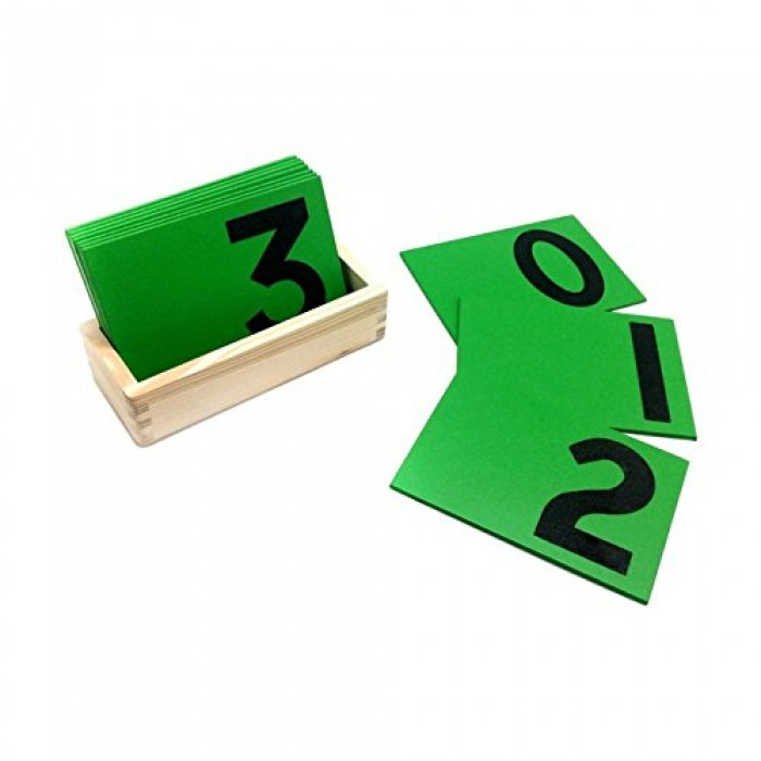 Skola Toys Sandpaper Numbers - Trace the Numerals