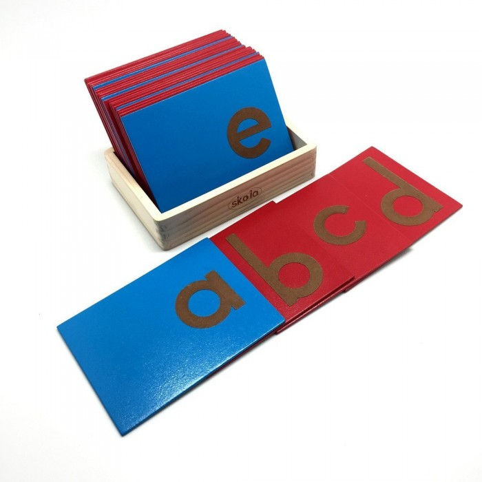Skola Toys Sandpaper Letters Tracing - Lower Case Small Alphabets