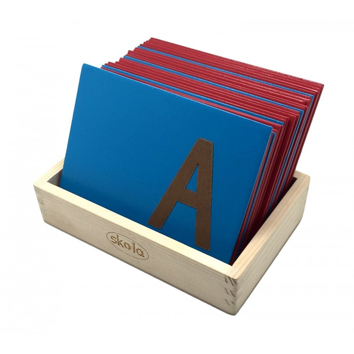 Skola Toys Sandpaper Letters Tracing - Upper Case Capital Alphabets