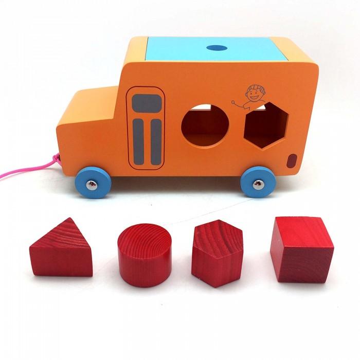 Skola Toys Pull Along Shape Sorter Bus