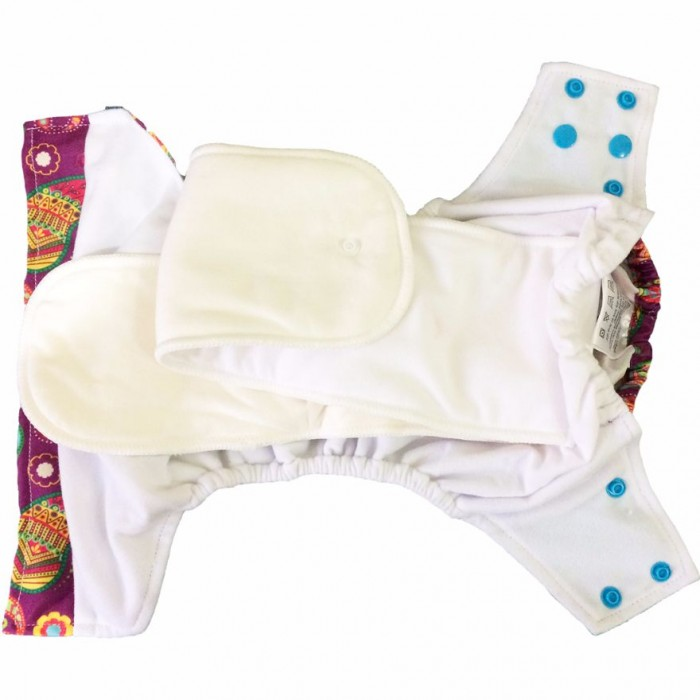 Superbottom Ikat Chevron Diaper Plus-Fabric, Organic Bamboo cotton, Hemp