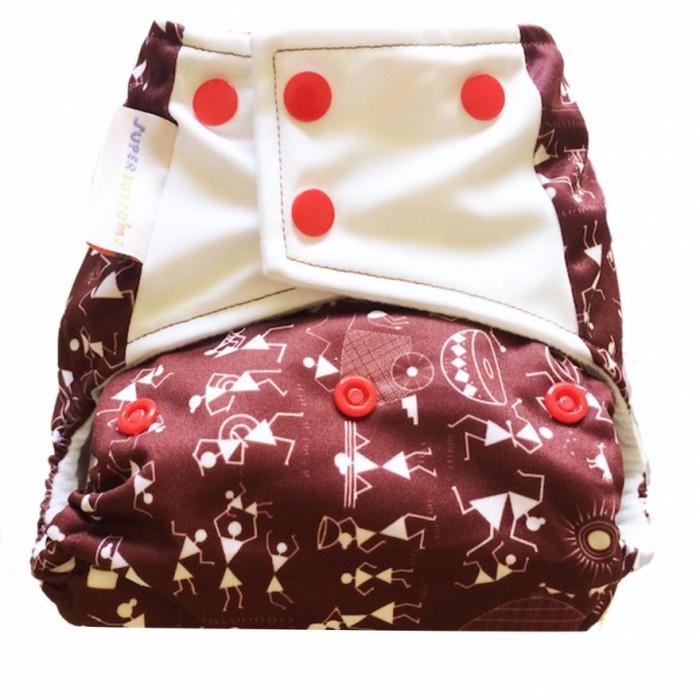 Superbottom Warli Art Diaper Plus-Fabric, Organic Bamboo cotton, Hemp