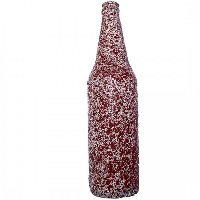 Ashvita Design Studio Up-Cycled Bottles Multi Purpose- Pink Flower vase